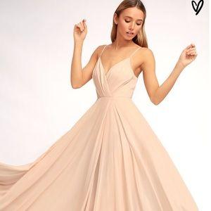 Lulu's Dresses - New Lulu's All About Love Blush Pink Maxi Dress